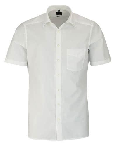 OLYMP Luxor modern fit Hemd Halbarm mit New Kent Kragen Popeline beige - Hemden Meister
