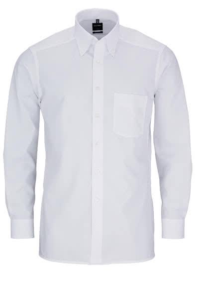 OLYMP Luxor modern fit Hemd Langarm Button Down Kragen Popeline weiß - Hemden Meister