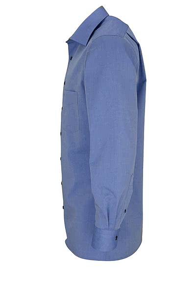 OLYMP Luxor modern fit Hemd extra langer Arm Chambray mittelblau