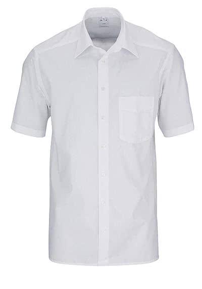 OLYMP Luxor comfort fit Hemd Halbarm Basic Kent Kragen Popeline weiß - Hemden Meister