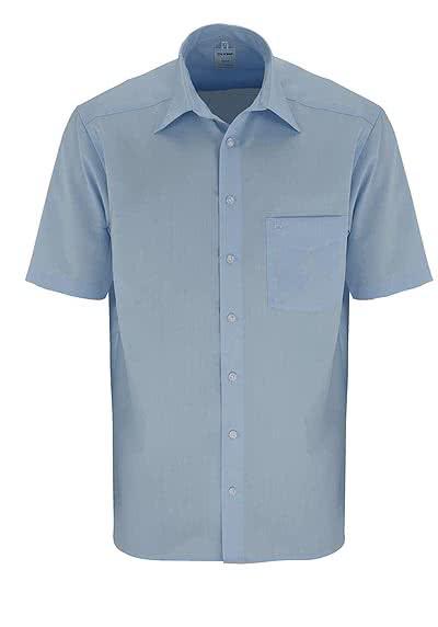 OLYMP Luxor comfort fit Hemd Halbarm Popeline hellblau - Hemden Meister