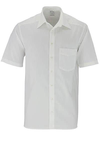 OLYMP Luxor comfort fit Hemd Halbarm Basic Kent Kragen Popeline beige - Hemden Meister