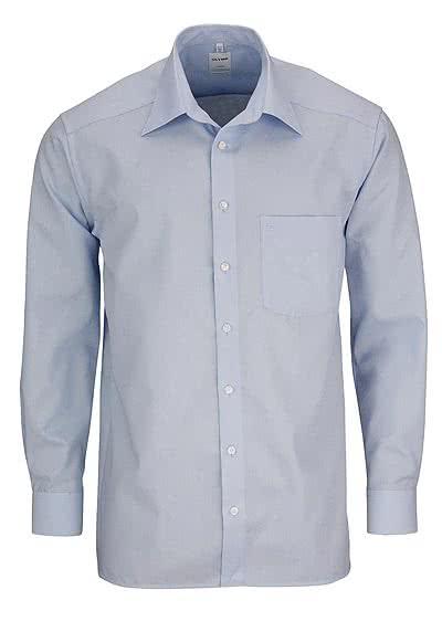 OLYMP Luxor comfort fit Hemd extra kurzer Arm Popeline hellblau - Hemden Meister