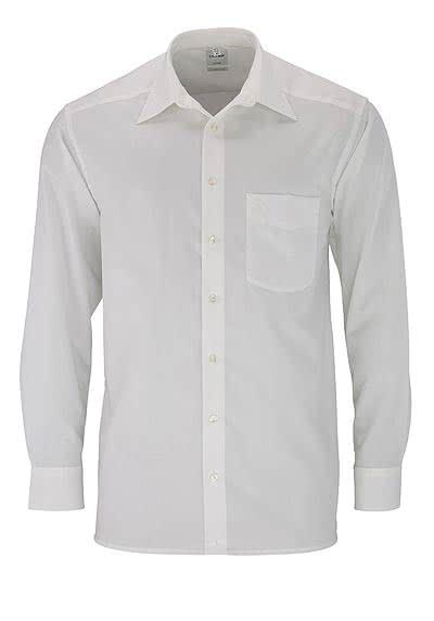OLYMP Luxor comfort fit Hemd Langarm Basic Kent Popeline beige - Hemden Meister