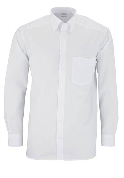 OLYMP Luxor comfort fit Hemd Langarm Button Down Popeline weiß - Hemden Meister