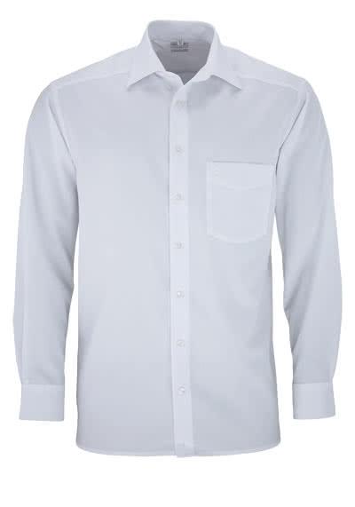 OLYMP Luxor comfort fit Hemd Langarm mit New Kent Popeline weiß - Hemden Meister