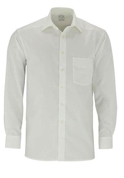 OLYMP Luxor comfort fit Hemd Langarm mit New Kent Popeline beige - Hemden Meister