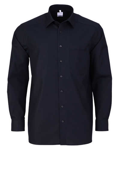 OLYMP Luxor comfort fit Hemd Langarm mit New Kent Popeline schwarz