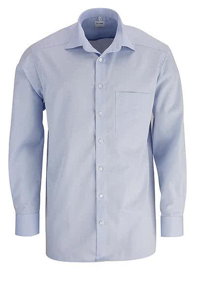 OLYMP Luxor comfort fit Hemd Langarm New Kent Kragen Chambray hellblau - Hemden Meister