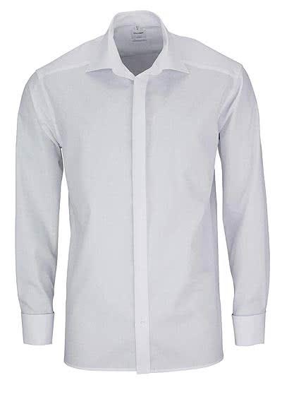 OLYMP Luxor comfort fit Gala Hemd Langarm Popeline weiß - Hemden Meister