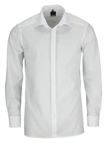OLYMP Luxor modern fit Galahemd extra langer Arm weiß - Hemden Meister