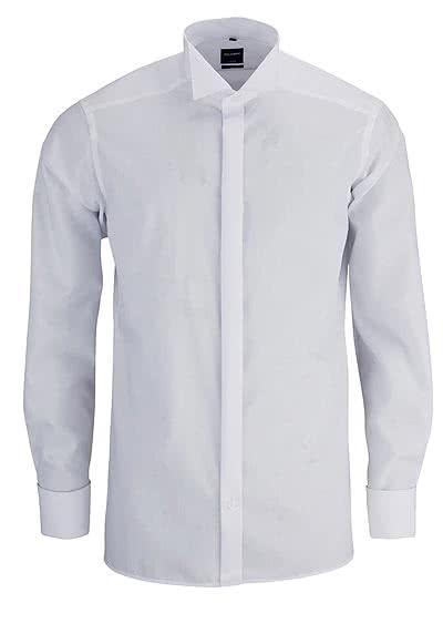OLYMP Luxor modern fit Gala Hemd extra langer Arm weiß - Hemden Meister