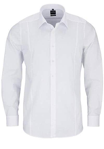 OLYMP Level Five body fit Hemd Langarm Stretch weiß