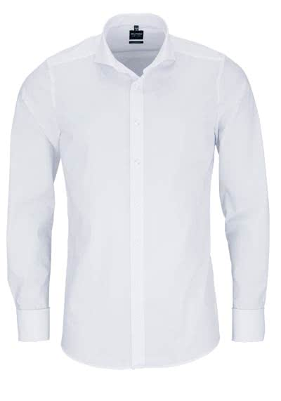OLYMP Level Five body fit Hemd Langarm weiß ohne Manschettenknopf - Hemden Meister