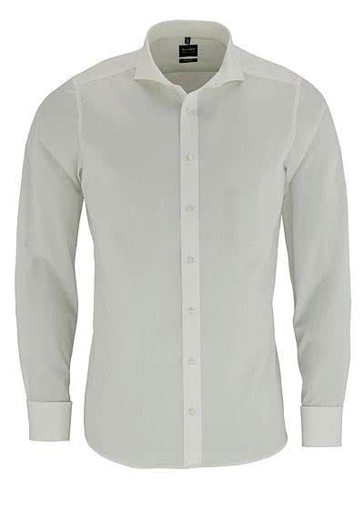 OLYMP Level Five body fit Hemd Langarm ohne Manschettenknopf beige - Hemden Meister