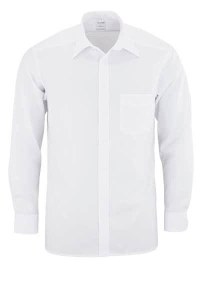 OLYMP Tendenz regular fit Hemd Langarm Popeline weiß - Hemden Meister