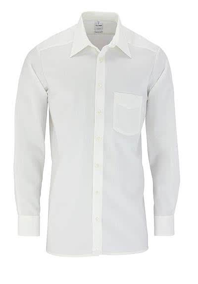 OLYMP Tendenz regular fit Hemd Langarm Popeline beige - Hemden Meister