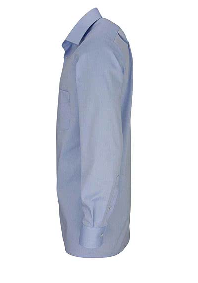 OLYMP Tendenz regular fit Hemd Langarm Chambray hellblau