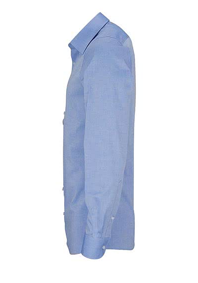 OLYMP Level Five body fit Hemd extra langer Arm Chambray hellblau