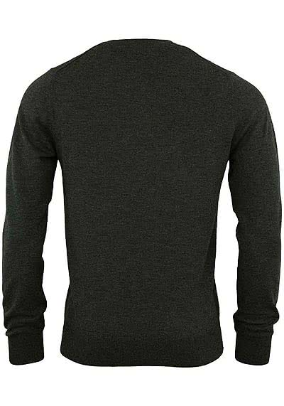OLYMP Level Five Strick body fit Pullover V-Ausschnitt anthrazit