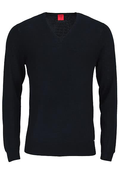 OLYMP Level Five Strick body fit Pullover V-Ausschnitt schwarz - Hemden Meister