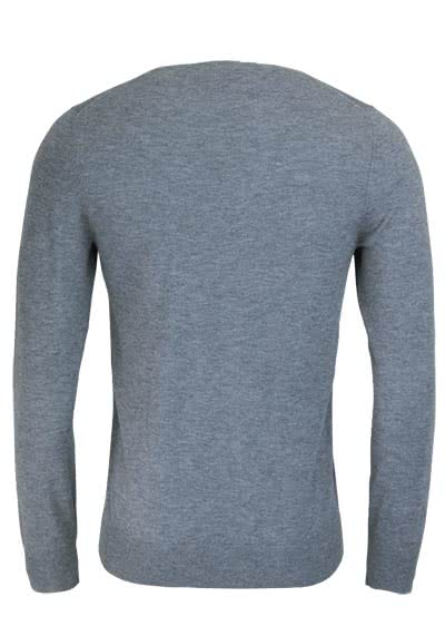 OLYMP Level Five Strick body fit Pullover Rundhals mittelgrau