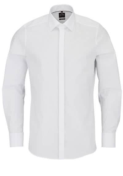 OLYMP Level Five body fit Galahemd extra langer Arm Popeline weiß - Hemden Meister