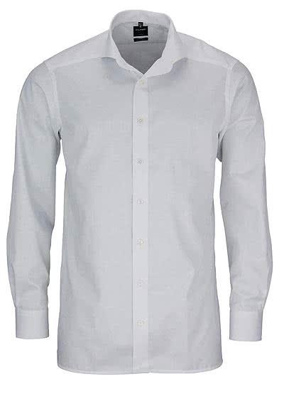 OLYMP Luxor modern fit Hemd Langarm Feintwill weiß - Hemden Meister