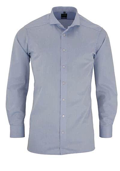 OLYMP Luxor modern fit Hemd Langarm Feintwill hellblau - Hemden Meister