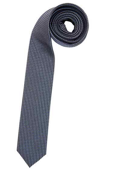 OLYMP Krawatte slim aus reiner Seide mit Nano-Effekt Muster grau - Hemden Meister