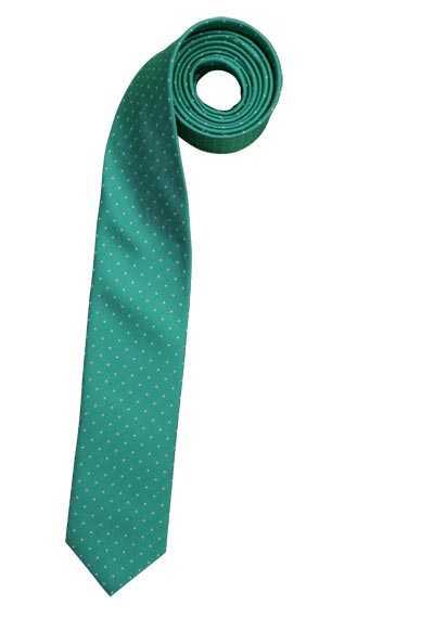 OLYMP Krawatte slim aus reiner Seide mit Nano-Effekt Muster hellgrün - Hemden Meister