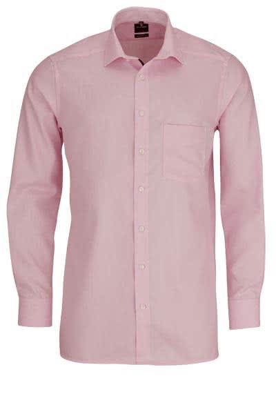 OLYMP Luoxr modern fit Hemd extra langer Arm Muster rosa - Hemden Meister