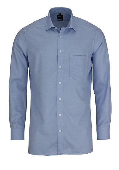 OLYMP Luxor modern fit Hemd extra langer Arm Muster hellblau - Hemden Meister