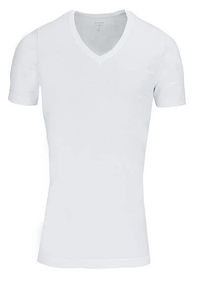 OLYMP T-Shirt Level Five body fit V-Ausschnitt weiß - Hemden Meister