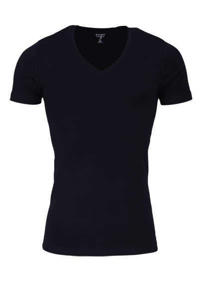 OLYMP T-Shirt Level Five body fit V-Ausschnitt schwarz - Hemden Meister