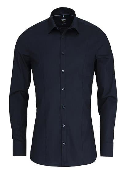 OLYMP No. Six super slim Hemd Stretch Langarm Uni schwarz - Hemden Meister