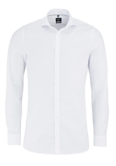 OLYMP No. Six super slim Hemd Langarm Haifischkragen weiß - Hemden Meister
