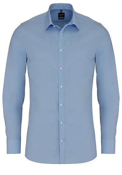 OLYMP No. Six super slim Hemd Langarm New Kent Kragen hellblau - Hemden Meister