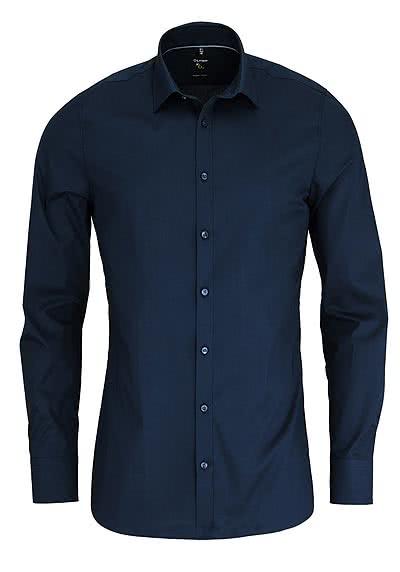 OLYMP No. Six super slim Hemd Langarm New Kent Kragen nachtblau - Hemden Meister