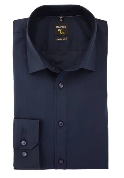 OLYMP No. Six super slim Hemd Langarm New Kent Kragen nachtblau