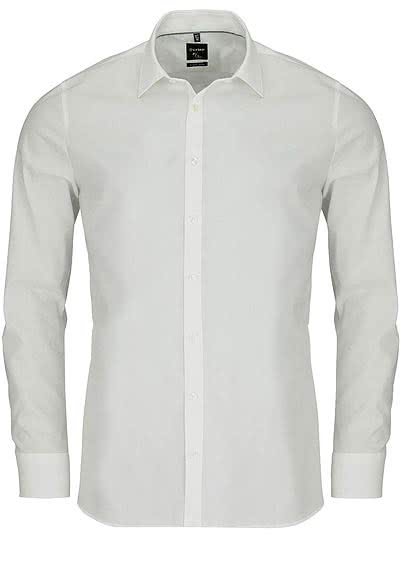 OLYMP No. Six super slim Hemd Langarm New Kent Kragen beige - Hemden Meister
