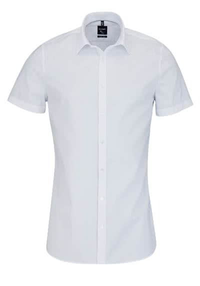 OLYMP No Six super slim Hemd Halbarm New Kent Kragen weiß - Hemden Meister