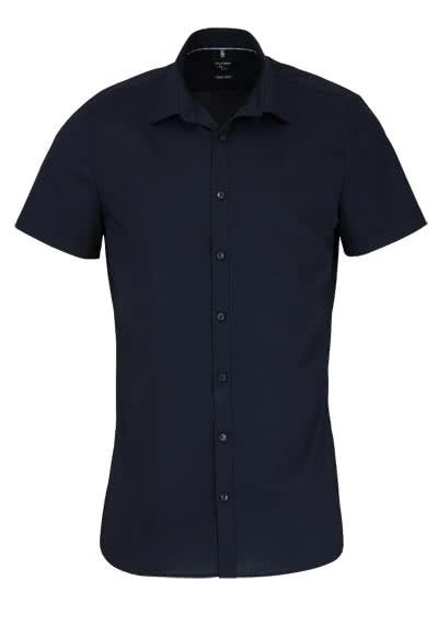 OLYMP No Six super slim Hemd Halbarm New Kent Kragen schwarz - Hemden Meister