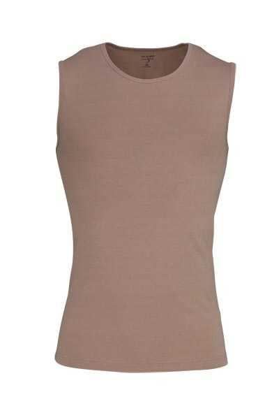 OLYMP Level Five body fit Unterzieh- T-Shirt Rundhals Stretch beige - Hemden Meister