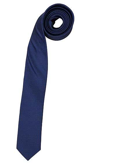 OLYMP Krawatte super slim aus reiner Seide mit Nano-Effekt rauchblau - Hemden Meister