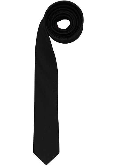 OLYMP Krawatte super slim aus reiner Seide mit Nano-Effekt schwarz - Hemden Meister