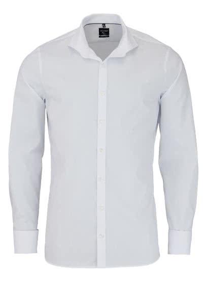 OLYMP No. Six super slim Hemd Stretch Langarm Uni weiß - Hemden Meister