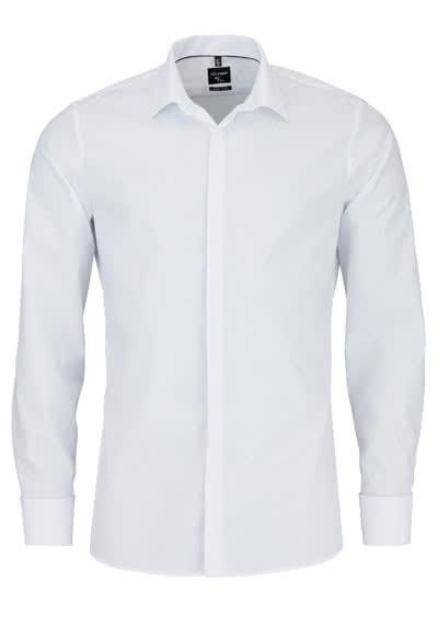 OLYMP No. Six super slim Hemd Langarm Umschlagmanschette weiß - Hemden Meister