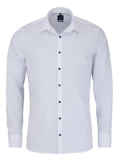 OLYMP No. Six super slim Hemd Langarm Umschlagmanschette Uni weiß - Hemden Meister
