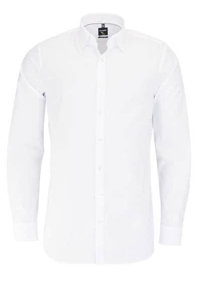 OLYMP No. Six super slim Hemd Langarm Under-Button-Down weiß - Hemden Meister